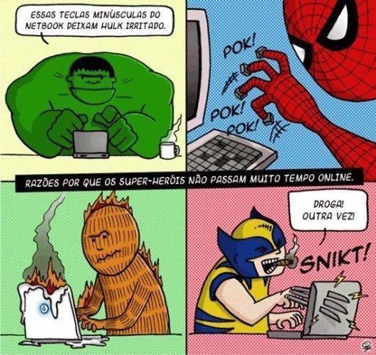 Piadas de Super Heróis