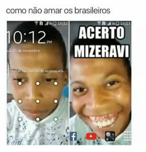 Os brasileiros e as suas imagens engraçadas